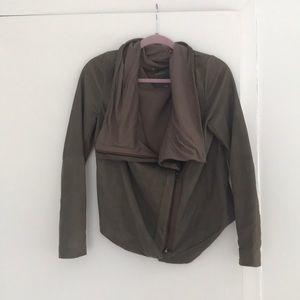 MUUBAA - suede drape jacket - size 8